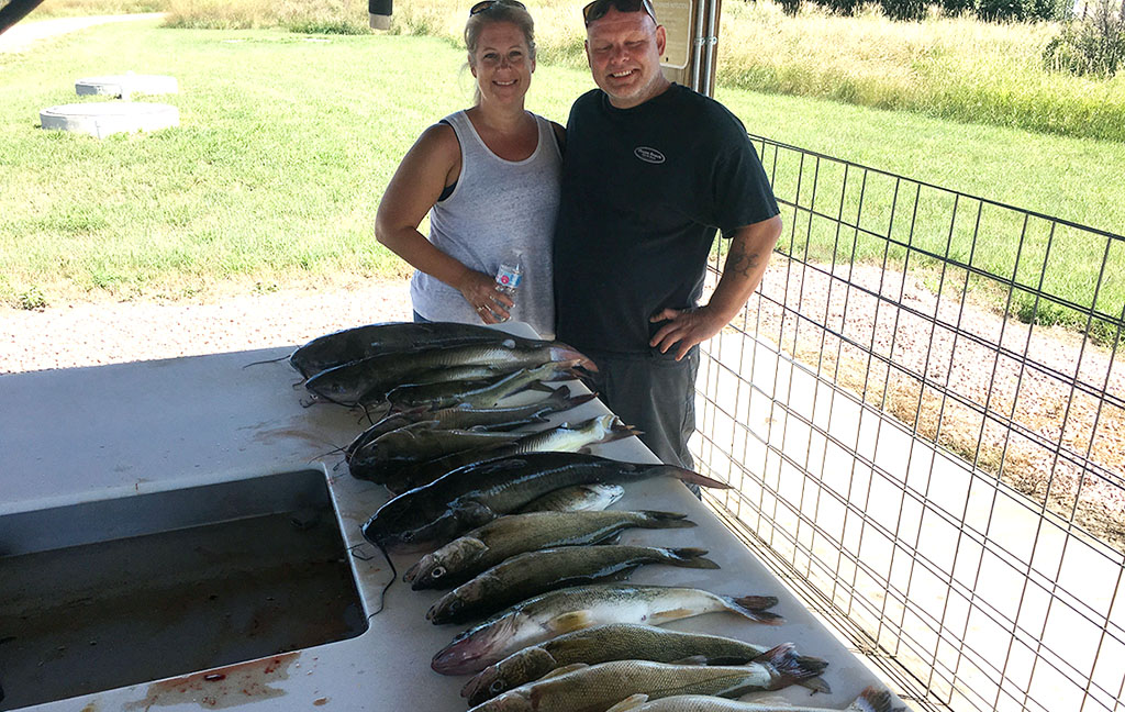 Walleye and Catfish bite on Lake Oahe