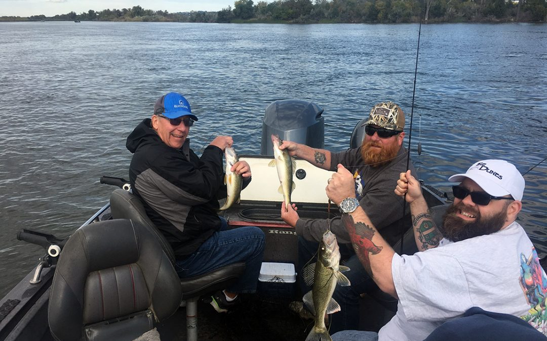 Great fall fishing in Pierre, South Dakota